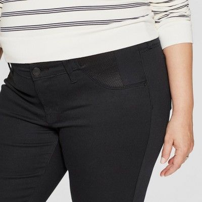 68ca556fbcdb3 Maternity Plus Size Inset Panel Skinny Jeans - Isabel Maternity by Ingrid