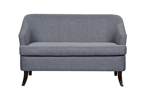 US Pride Furniture S5230 Modern Fabric Loveseat with Wood Legs ** Continue to the product at the image link.