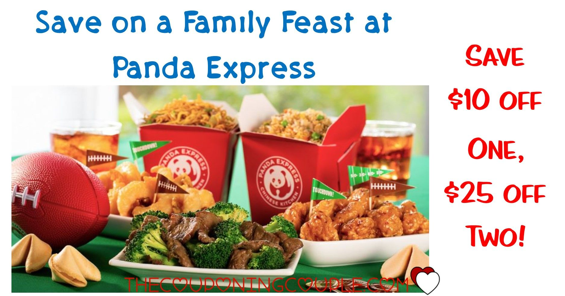 Family Feast For 20 00 At Panda Express Great Way To Save Family Feast Panda Express Feast