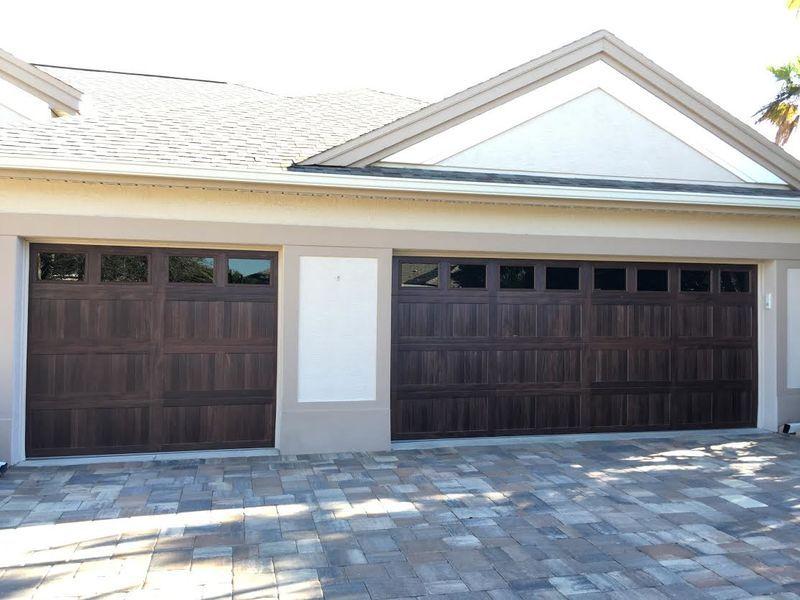 Chi 5283 Mahogany Short Panel Woodtones Door With Short Panel