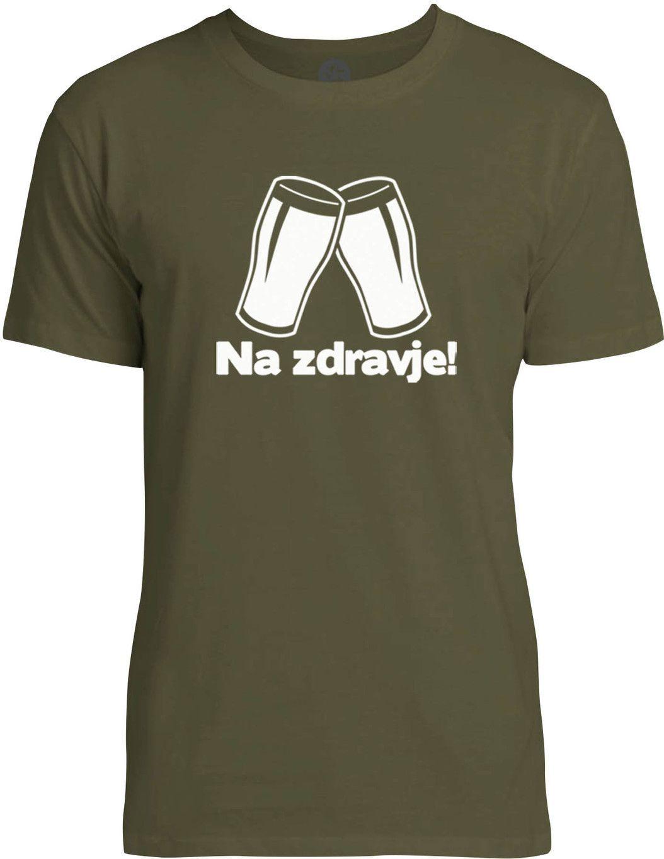 Slovenian Cheers (White) Mens Fine Jersey T-Shirt