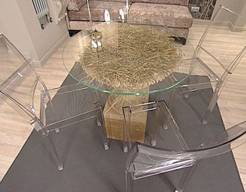 Glass Top Table Design DIY Project Unique Room Decorating Ideas