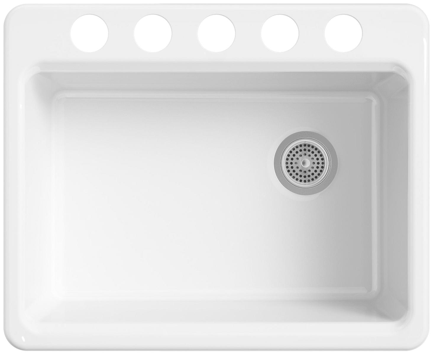 Shop Kohler Hartland 22 In X 33 In White Double Basin Cast Iron