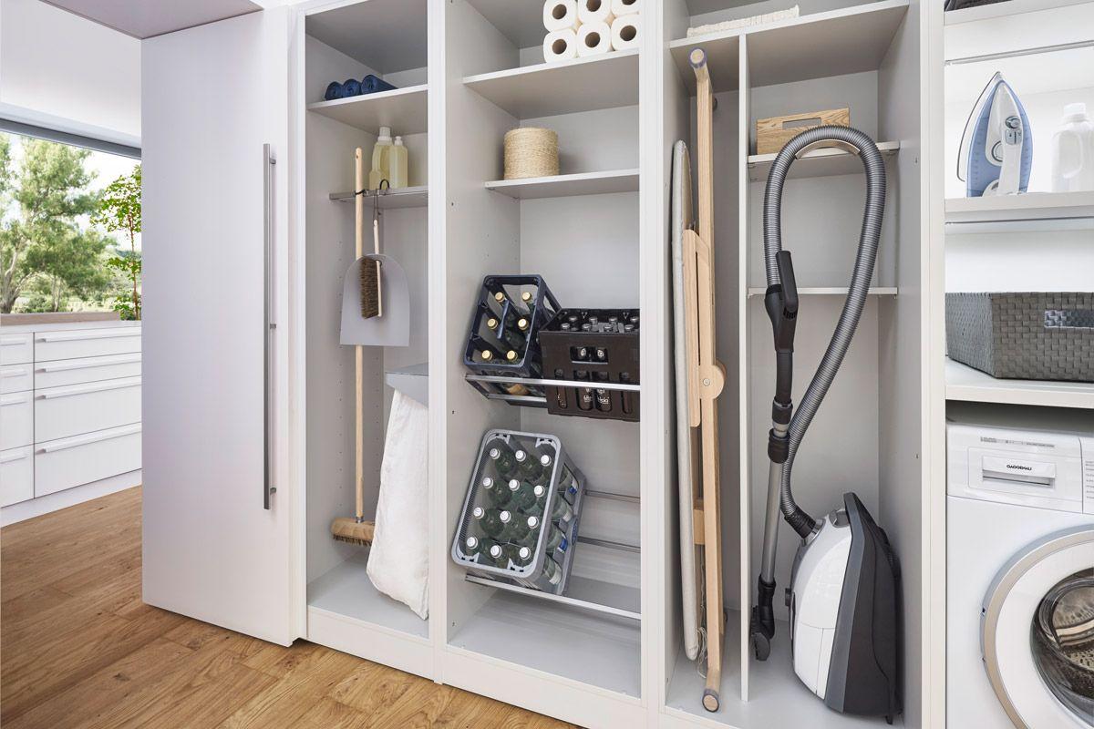 Meubles dans la buanderie: système d'organisation dans le meuble #ordnung #stauraum #h …