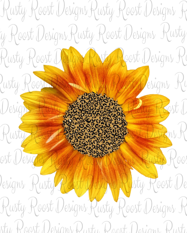 Leopard Sunflower Pngsunflower Sublimation Designs Etsy Sunflower Printable Sunflower Sunflower Design