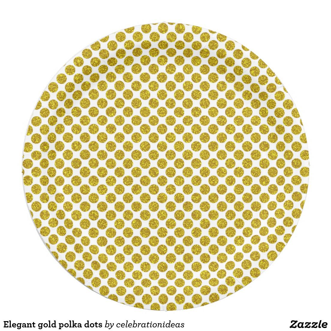 Shop Elegant gold polka dots paper plate created by celebrationideas.  sc 1 st  Pinterest : gold polka dot paper plates - pezcame.com