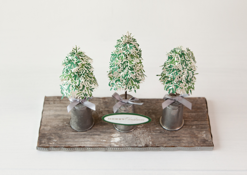 3d Floral Home Decor Cricut Cartridge Mini Pine Trees Make It