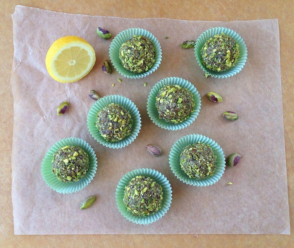Raw Lemon Pistachio Bites