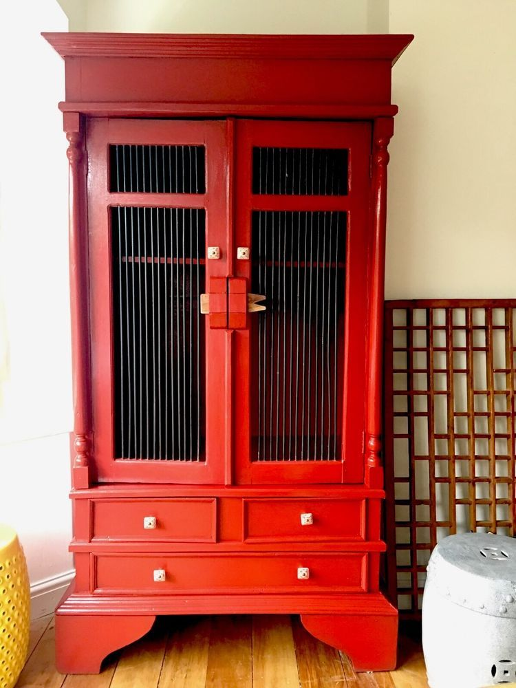 Balinese Kitchen Larder, TV Media Cabinet, Linen Cupboard, Solid ...