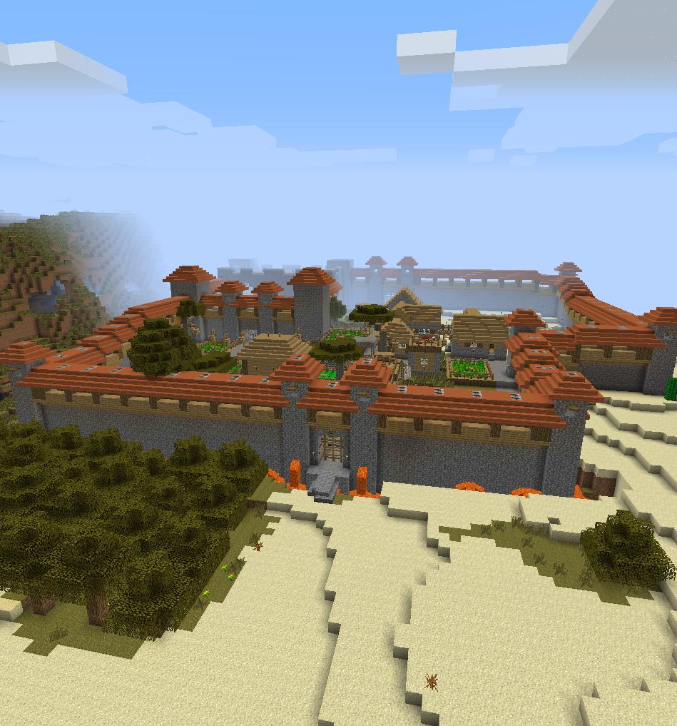 Multiplayer Server Acacia Town Minecraft bridges