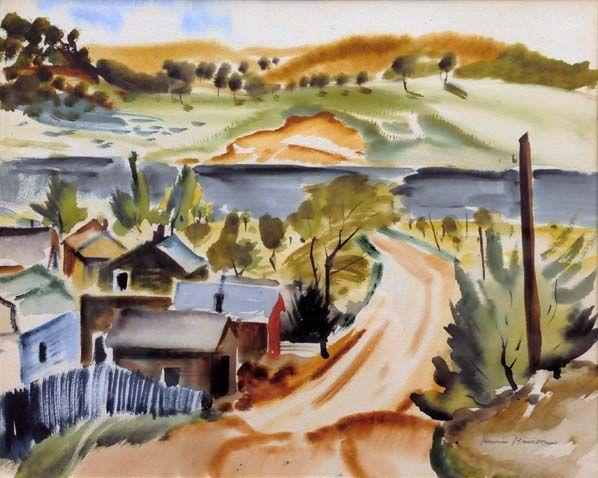 Henri Masson Paysage De Gatineau C 1945 Art Abstrait