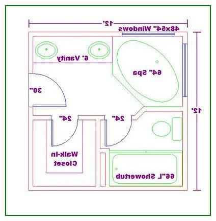 awesome master bathroom floor plans 12×12 | bathroom floor
