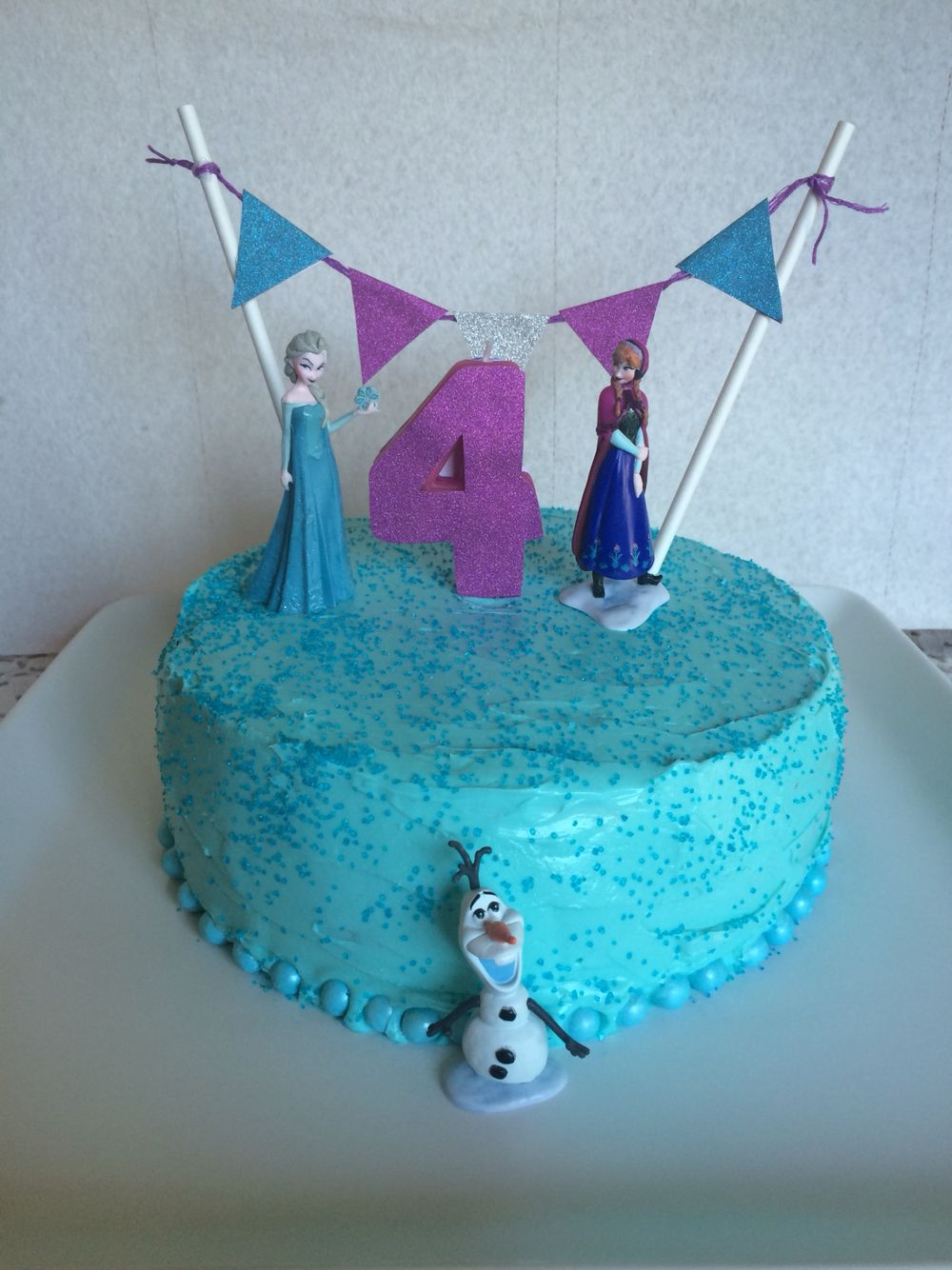 Easy Diy Frozen Birthday Cake With Images Frozen Birthday Cake