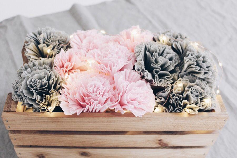 DIY Blumen aus Krepppapier | Blumen aus krepppapier, Krepppapier und ...