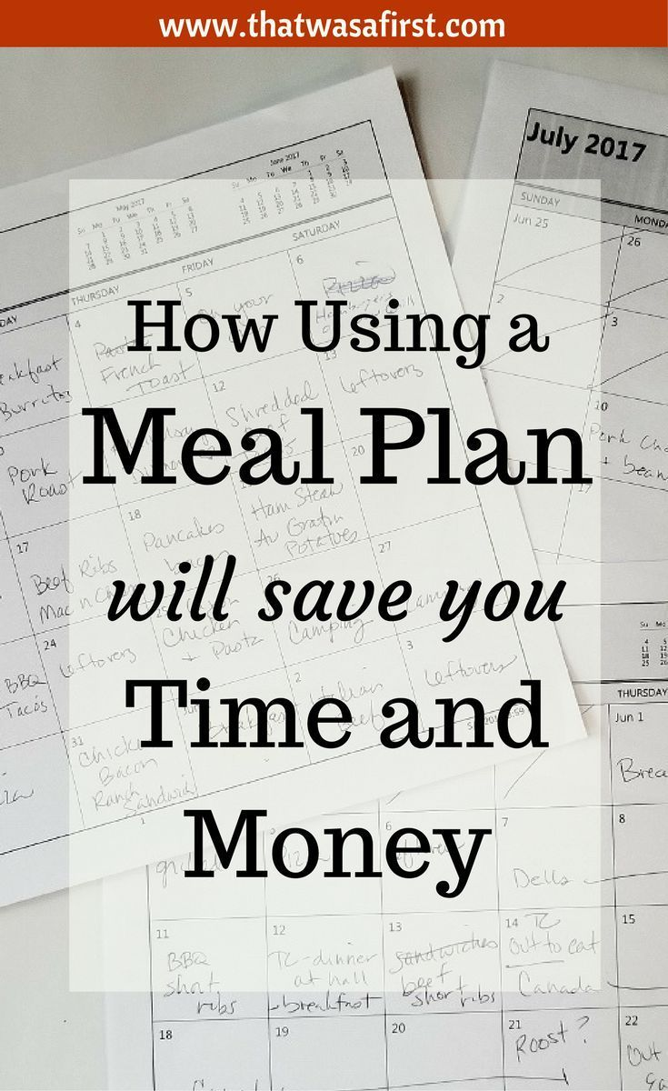 A meal plan will save you time and money.  It's time for your family to try one and have some food firsts!