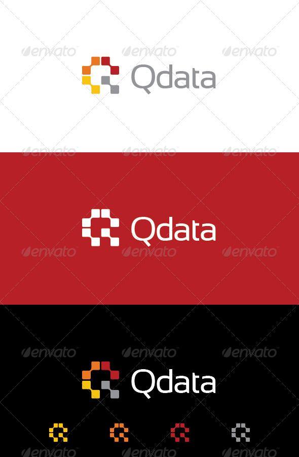 Logo branding Q Data Logo