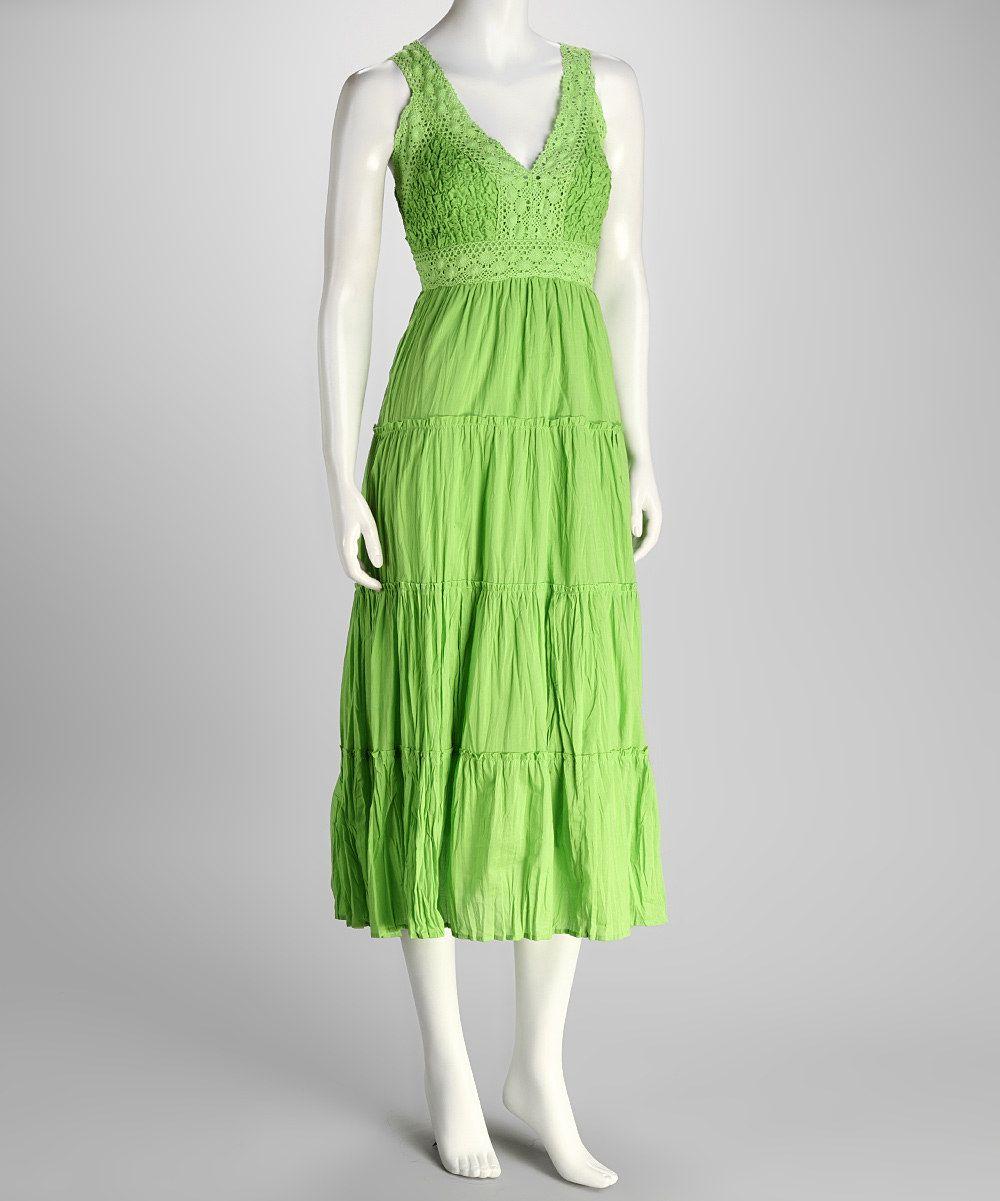 Lime Crocheted Sundress