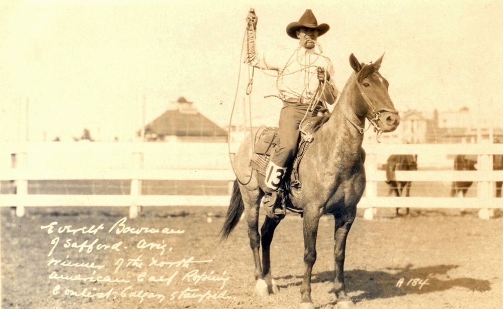 1929 Everett Bowman Calf Roping Calgary Stampede Pro