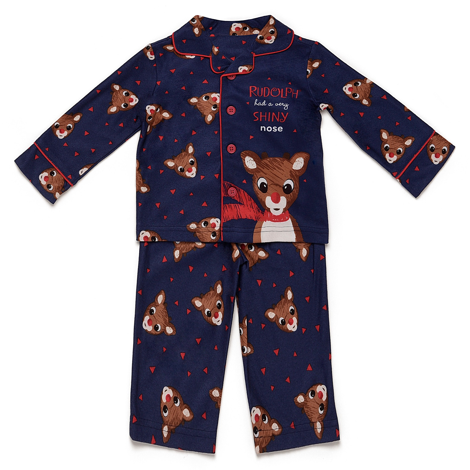 57e39beccee0 Toddler Boys  Rudolph the Red-Nosed Raindeer Pajama Set - Blue 4T ...