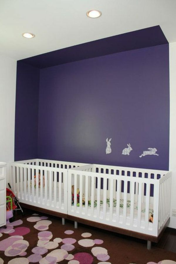 Wandgestaltung Kinderzimmer Einrichten Hase Muster