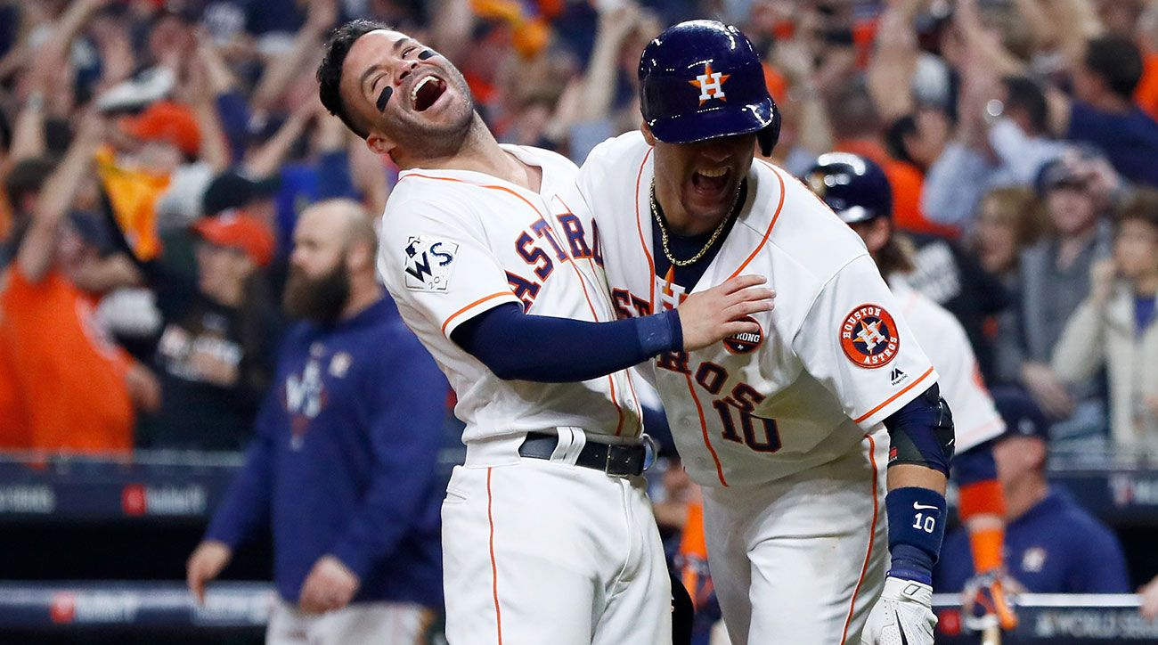 Astros Walk Off On Dodgers In Unforgettable Game 5 Slugfest With Images Athletics Baseball Baseball Live Baseball Camp