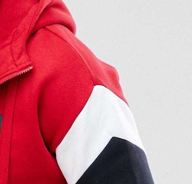 Nike – Air – Marineblauer Kapuzenpullover zum Überziehen mit