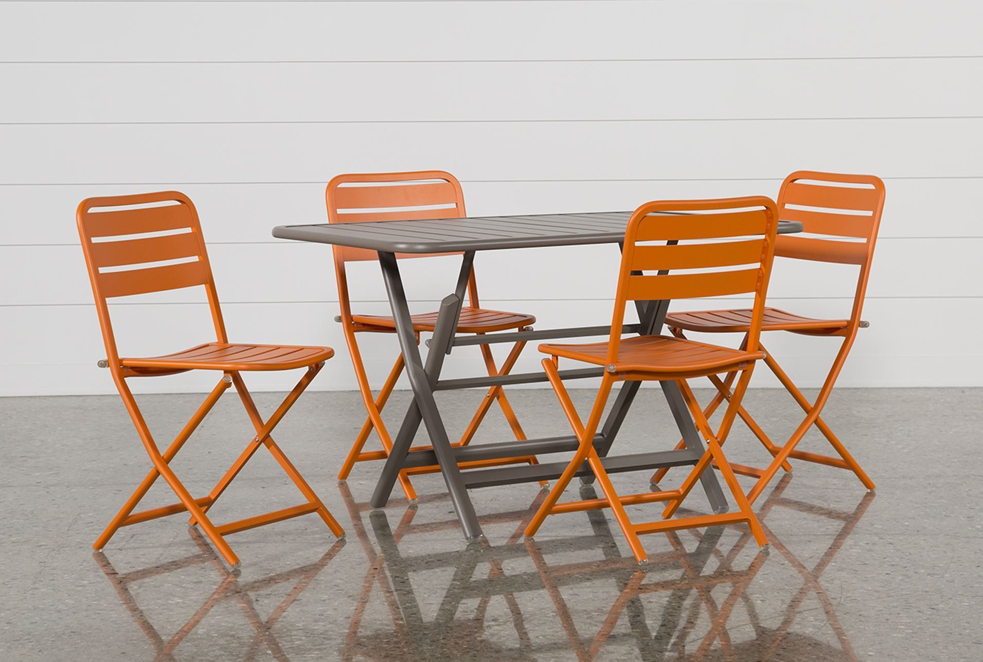 Folding dining table and chair set  Carnivale  Piece Dining Set WMandarin Chairs   piece dining set