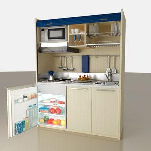 cucina a scomparsa | Cucina | Pinterest | Cucina piccola, Cucina e ...
