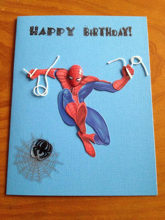 Spiderman Birthday Card Cards Birthday Cards Kids Birthday Cards