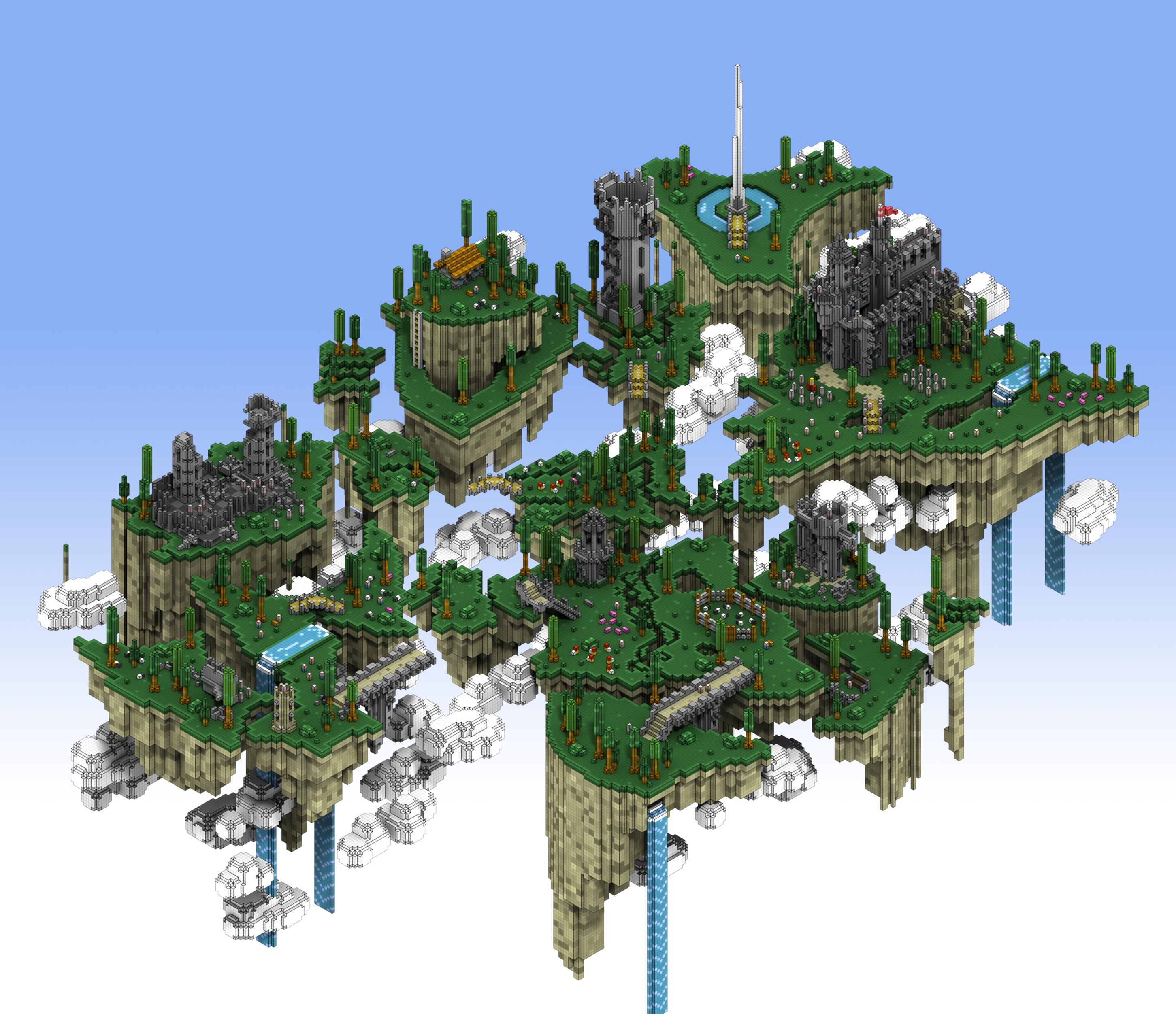 07 The Floating Islands Art Minecraft Designs Minecraft