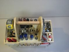 Hand tool tote tutorial, each tool has a designated space and there's no room for clutter to accumulate.