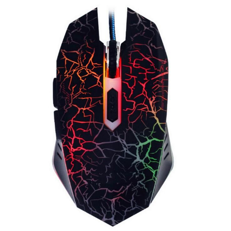 4000DPI 6 Buttons Optical Wired LED Professional Gaming Mouse Mice For PC Laptop