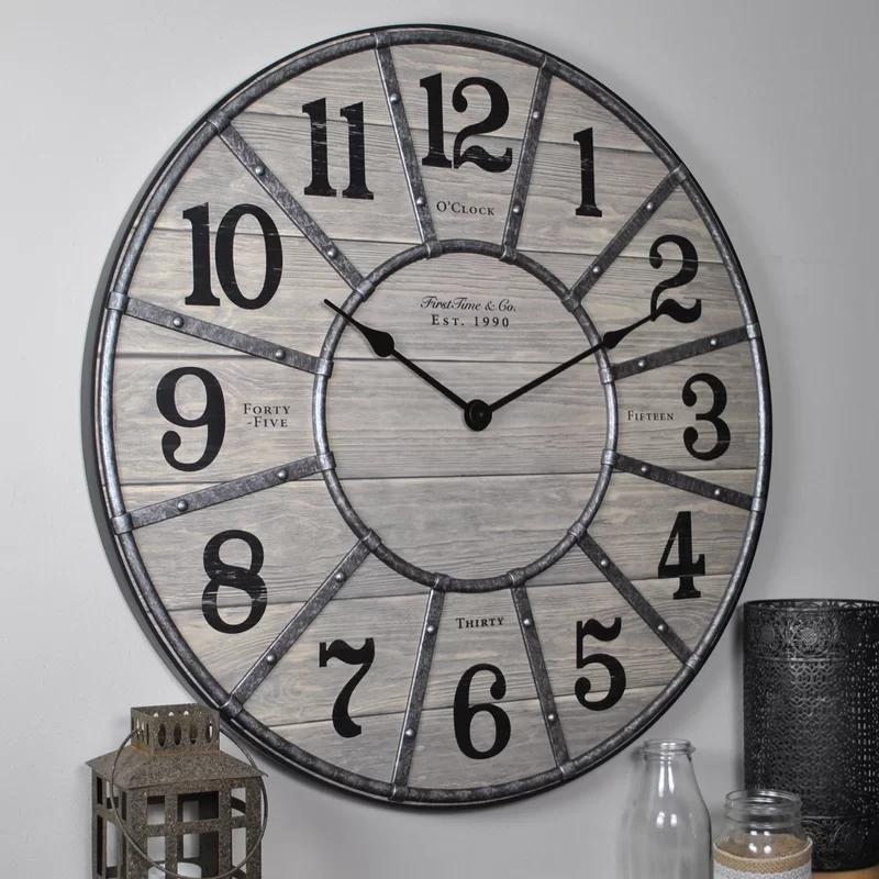 Oversized Cooper 27 Wall Clock Wall Clock Clock Retro Clock