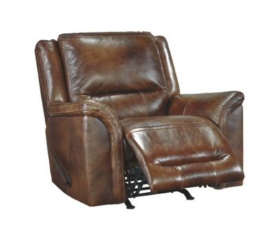Jayron Recliner by Ashley HomeStore, Brown, Leather (100 %)
