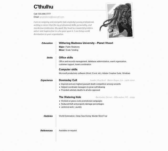 10 Free Professional HTML \ CSS CV\/Resume Templates Sample - Resume With Photo Template