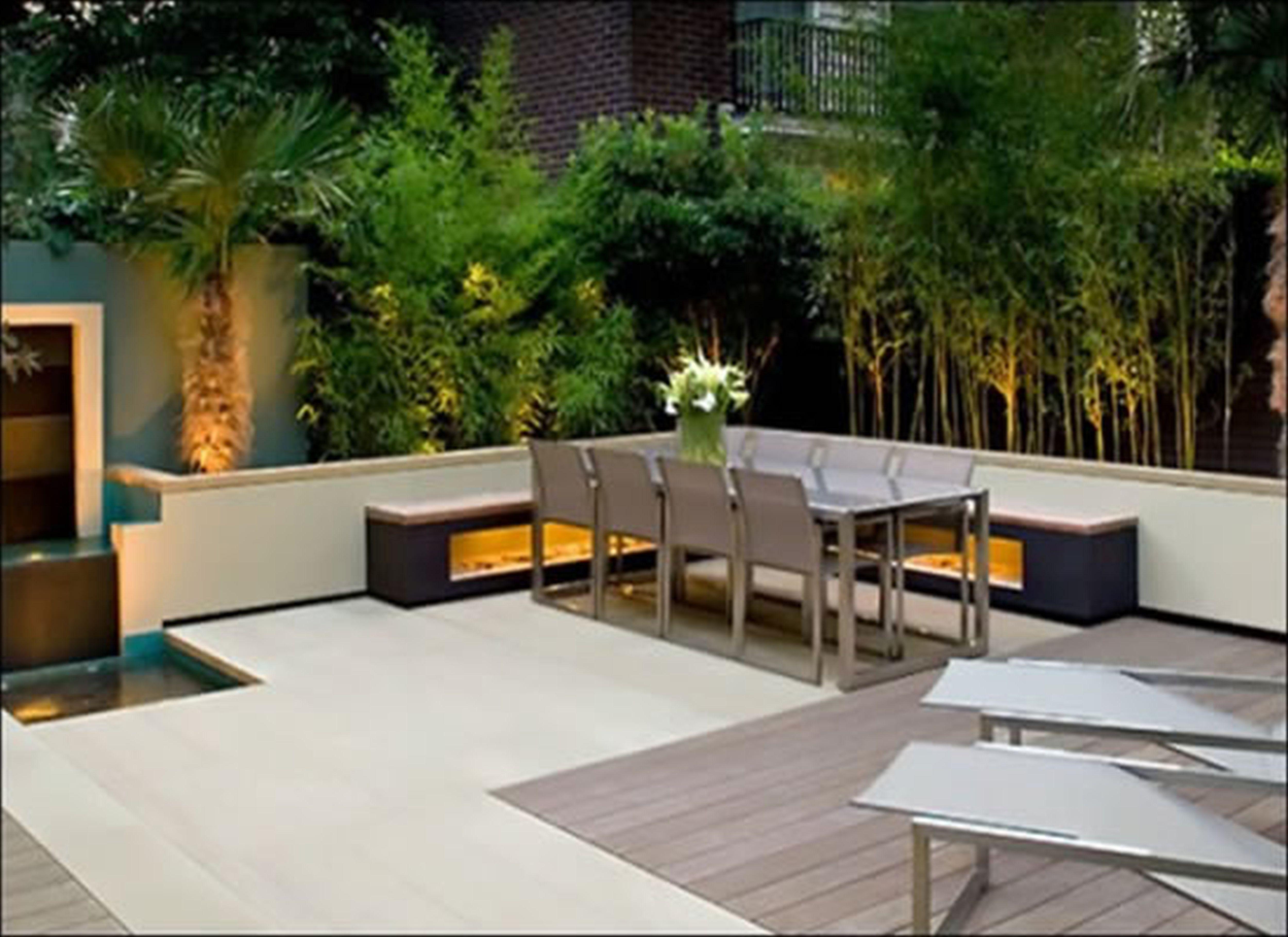 Modern backyard landscape design