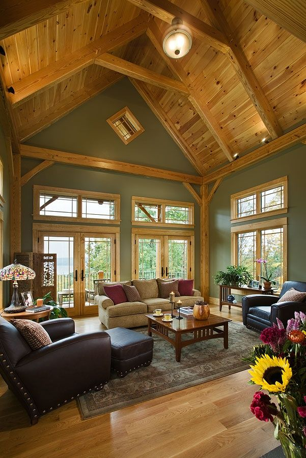 Great Room Additions Home Design Ideas Pictures Remodel And Decor: Family Room Sage Green Walls Design, Pictures, Remodel, Decor And Ideas