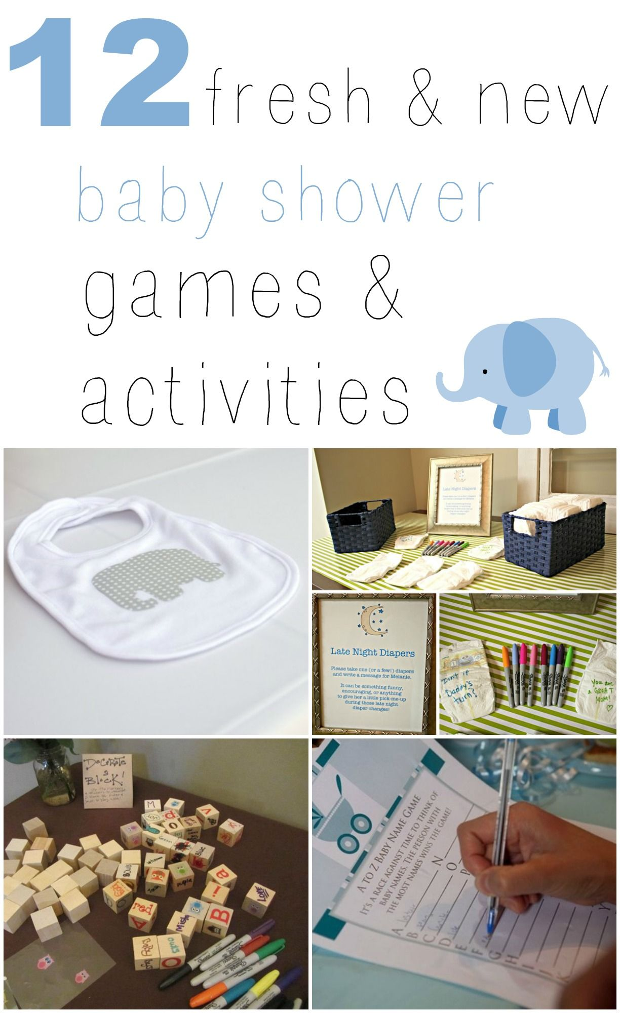 Love these 12 Fresh & New Baby Shower Games & Activities that