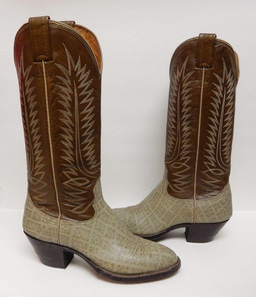 dc824ddd31c Details about Men's cowboy Crocodile Print square toe rodeo western ...