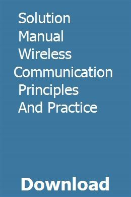 Wireless Communications Principles And Practice Pdf Download
