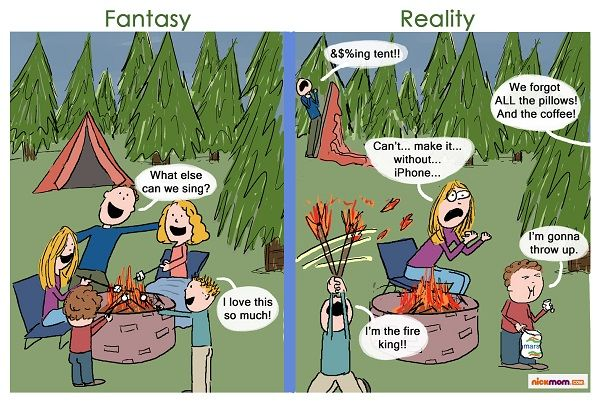 Funny Cartoons About Camping