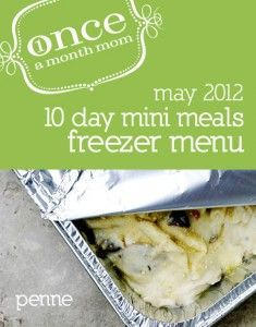 Freezer cooking menu, 5 recipes, 10 dinners. Made in one afternoon.