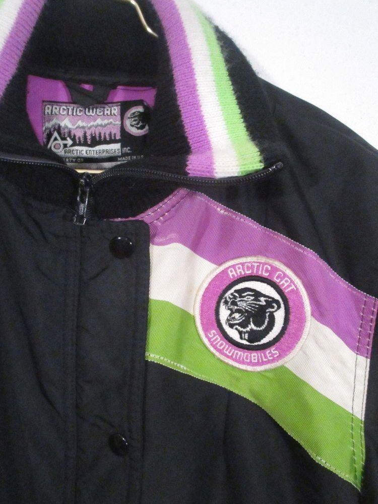 vintage arctic cat snowmobile suit snowsuit jacket parka