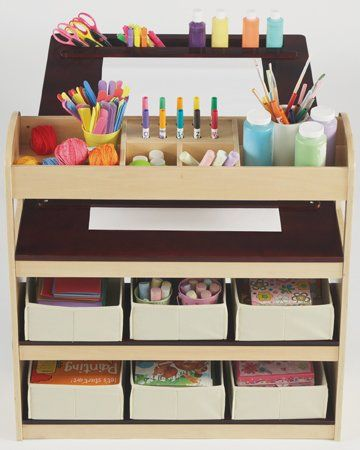 side storage of Fully Equipped Drawing Table for Kids Kids Art ...