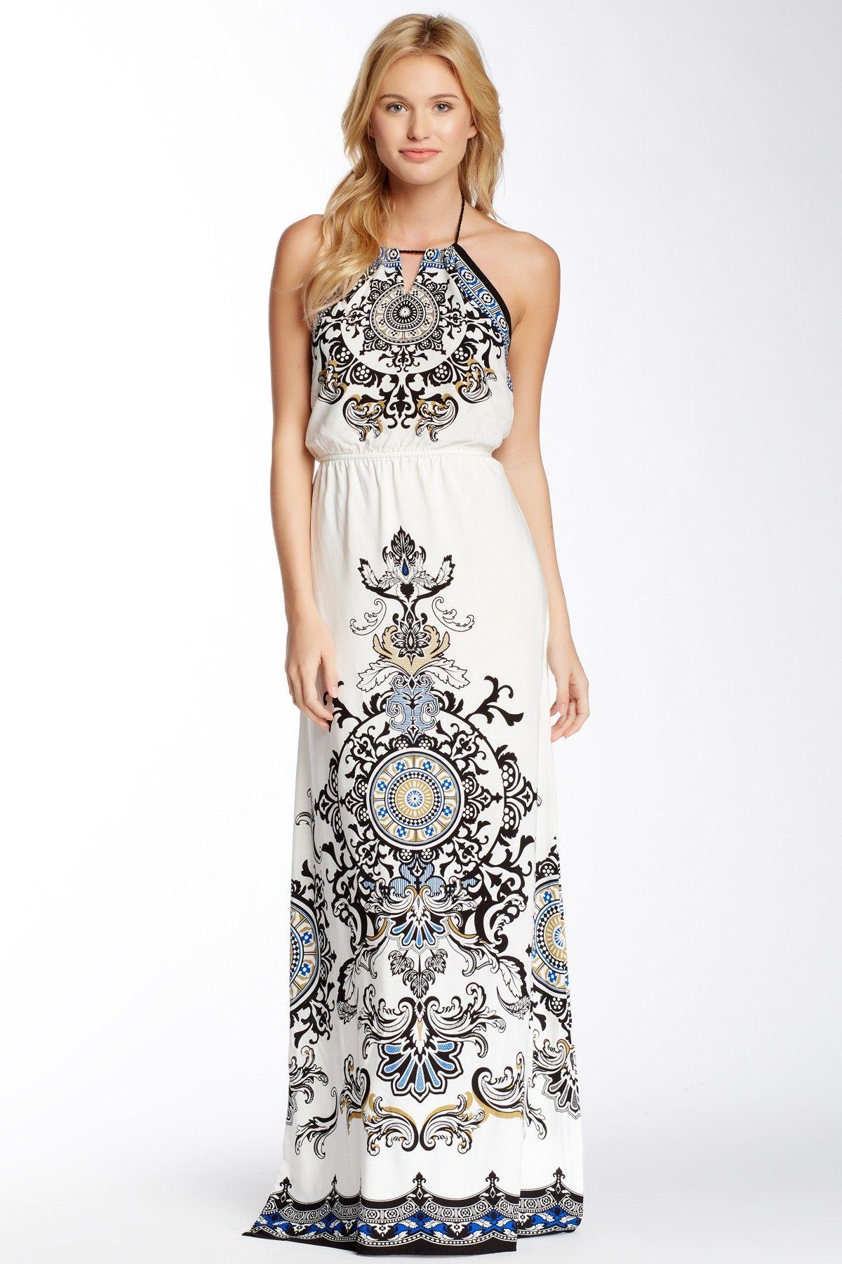 Print Halter Maxi Dress | Fashion | Pinterest | Ropa, Mi estilo y ...