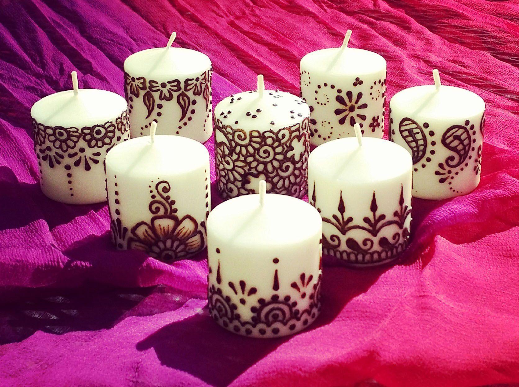 Henna Candle Wedding Favors Pretty Pinterest Henna Candles
