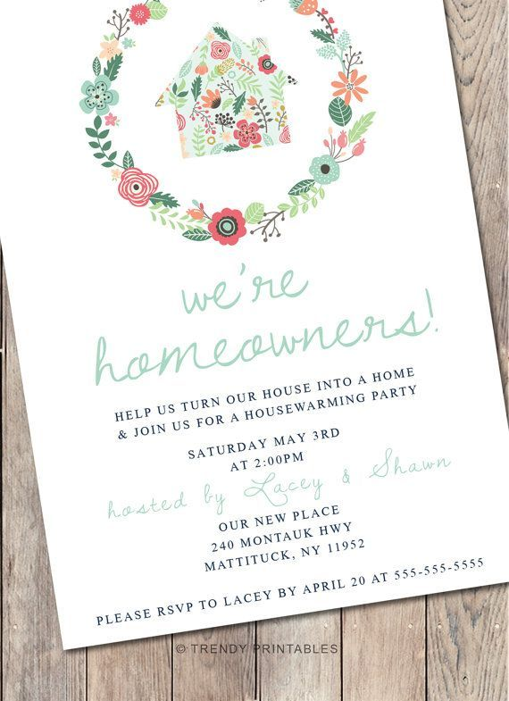 Housewarming party invitation housewarming by for How to organize a housewarming party