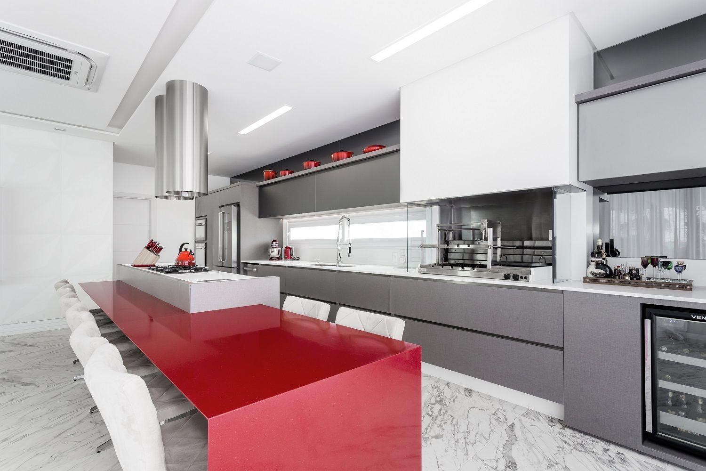 Cer Mica Portinari Produto Palace Statu Rio 75×150 Cm Projeto  ~ Cozinha Cinza Com Vermelho