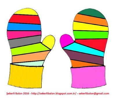 şekerli Balon Eldiven Boyama Boyama Sayfası