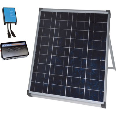 Npower Crystalline Solar Panel Kit With Stand Charge Controller And Inverter 80 Watts 12 Volt Crystalline Solar Panel Solar Panel Kits Solar Solar Panels
